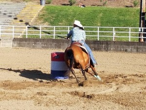 Snick and I running barrels in Watsonville