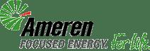 Ameren Logo. Focused Energy. For Life