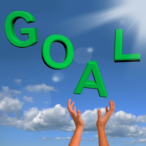 Goals Letters Falling Showing Objectives Hopes And Future