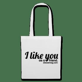 I like you Tasche weiß/schwarz