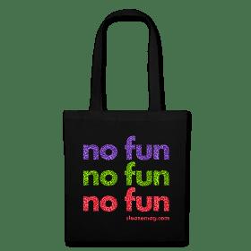 NO FUN Tasche schwarz