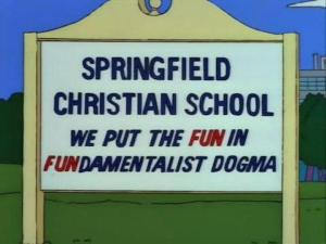 lustige Beschilderungen bei den Simpsons