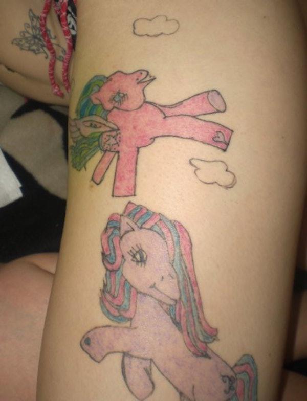 20 hässlichsten tätowierungen ugly tattoo tattoo fail gurke my little pony