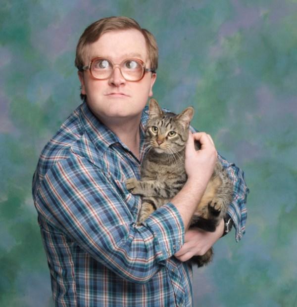 Männer und Katzen - Verrückte Katzen-Männer im Portrait
