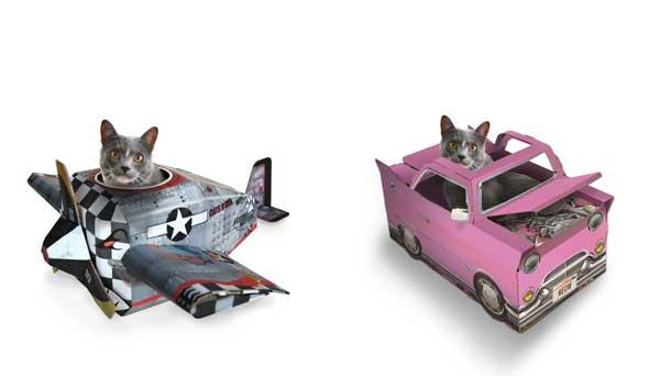 5 gadgets für katzen spielplatz wagen panzer flugzeug