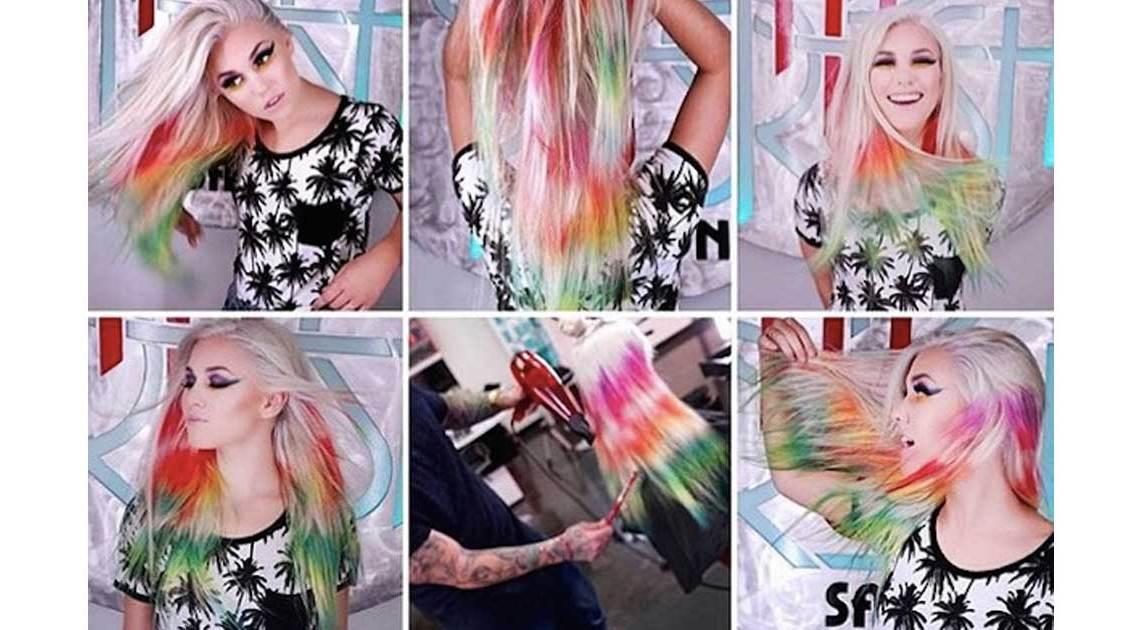 batik-haare frisur trend dip dye tye dye