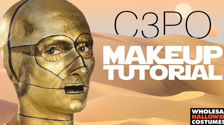 Das C3PO Makeup Tutorial