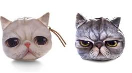 katzen geldbeutel meowingtons portemonnaie purse mit katze