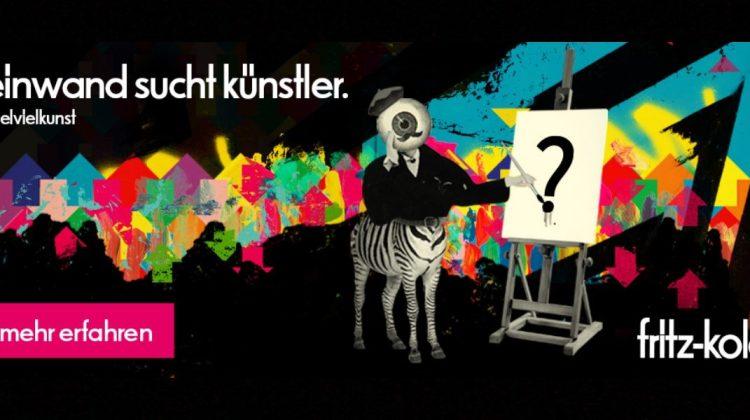fritz-kola vielvielkunst street art leinwand sucht Künstler