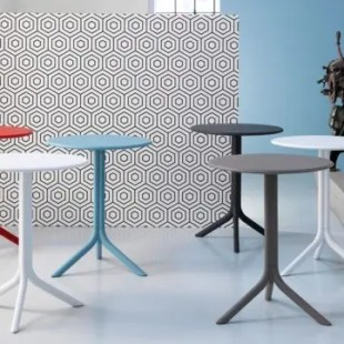 Pedestal table / contemporary / polypropylene / fiberglass