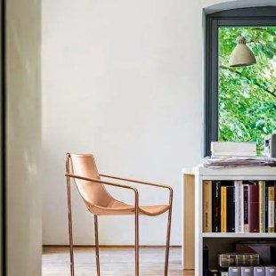 fauteuil-cuir-rose-design