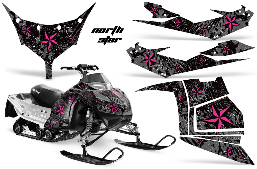 Polaris IQ Race Graphic Kit PINK BLKBG Northstar (745 of 1029)