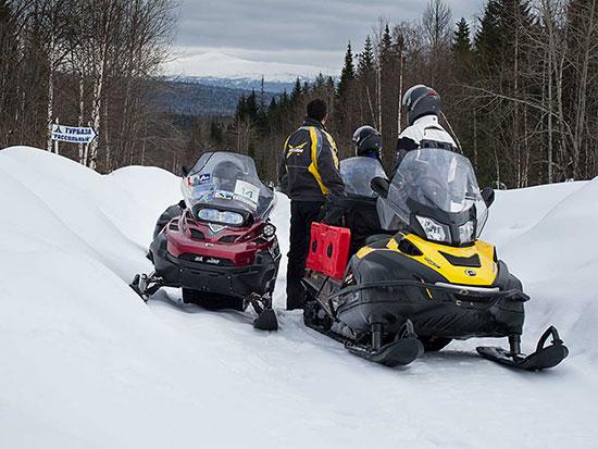 Ural Mountain snowmobile adventure