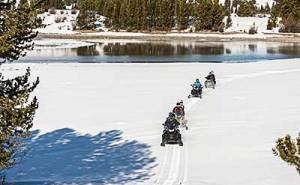 Snowmobilers on public lands
