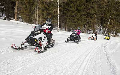 Family snowmobiling