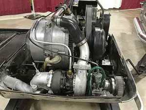 Vintage wankel snowmobile engine