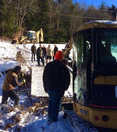 Hilltown Snowmobile Club clearing trails