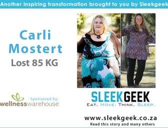 Carli Mostert's 85 kgs weight loss journey
