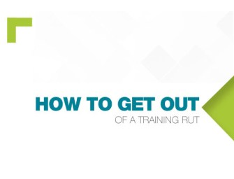 How to get out of a training rut