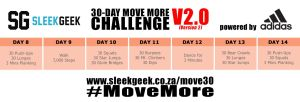 Sleekgeek 30-Day Move More Challenge Version 2.0 Week 2