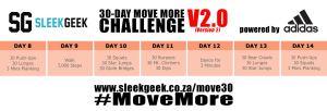 Sleekgeek 30-Day Move More Challenge Version 2.0 Week 2