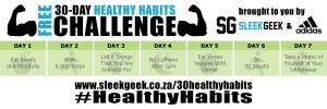 Sleekgeek 30-Day Healthy Habit Challenge Week 1 powered by adidas