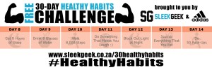 Sleekgeek 30-Day Healthy Habit Challenge Week 2 powered by adidas