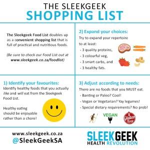 Sleekgeek Shopping List