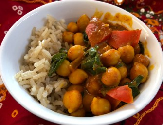 [Recipe] Chickpea Curry with Brown Rice