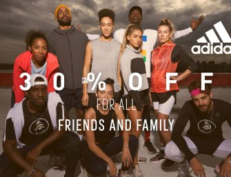 30% off Adidas for our friends and family!