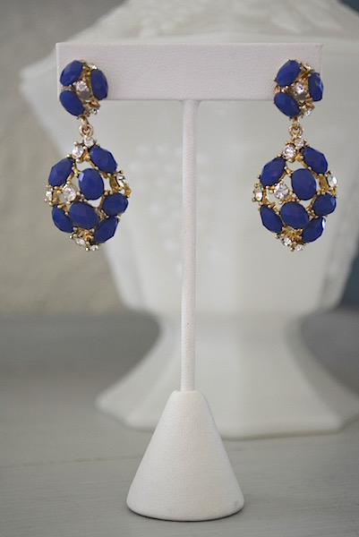 Blue Earrings, Cobalt Blue Earrings, Cobalt Earrings