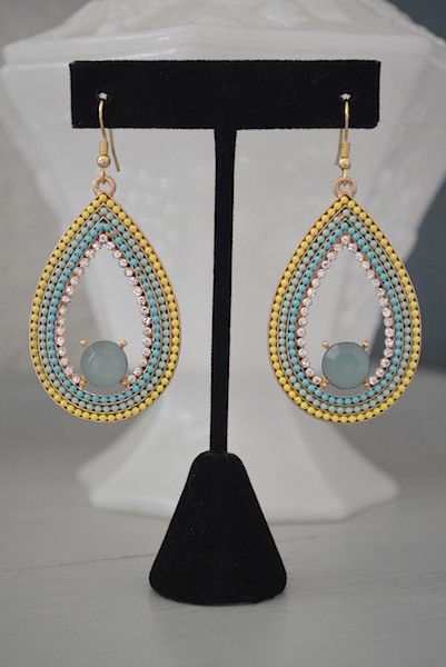 Mint Teardrop Earrings, Bright Earrings, Mint Jewelry