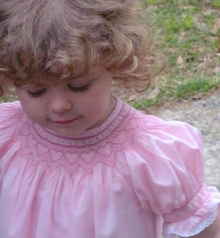Home, Girl in Smocked Dress, Clothes, Smocked Clothes, Smocking, Smocked Dress
