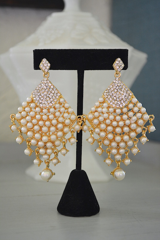 Bridal Earrings, Pearl Earrings, Prom, Formal Earrings
