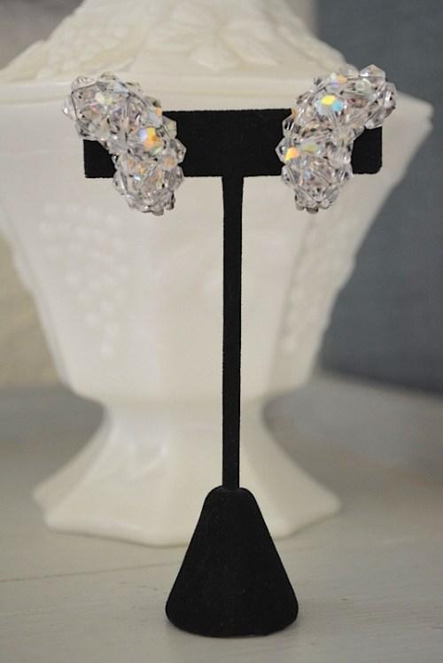 Crystal Earrings, Vintage Jewelry, Vintage Costume Jewelry