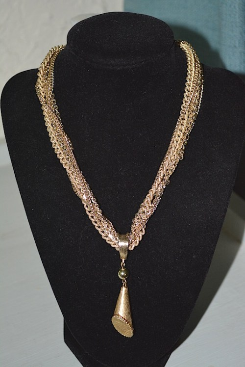 Gold Pendant Necklace, V