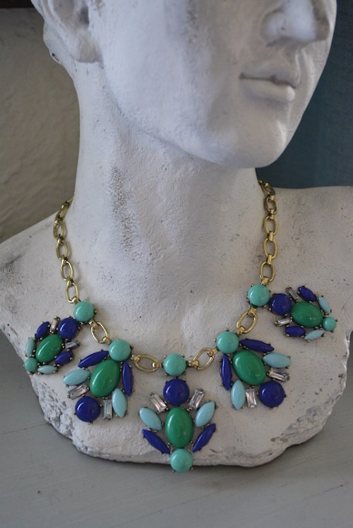 Turquoise and Blue Necklace, Turquoise Jewelry, Blue Jewelry, Bug Necklace, Green Jewelry,
