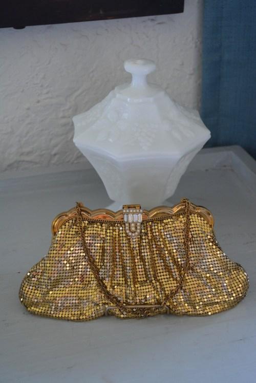 Whiting & Davis Purse, Gold Mesh Purse, Whiting & Davis, Gold Purse, Vintage Purse, Mesh Purse
