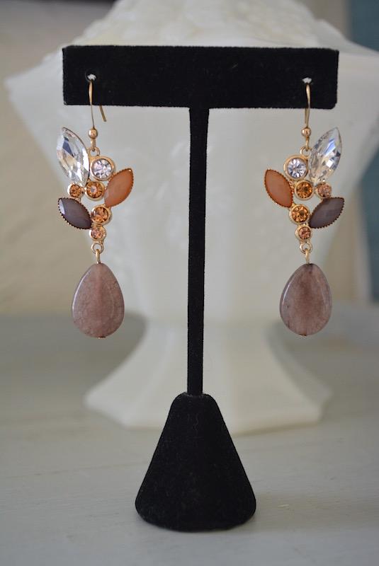 Brown Drop Earrings,Mocha Earrings,Brown Earrings, Caramel Earrings,Tan Earrings, Earthy Earrings