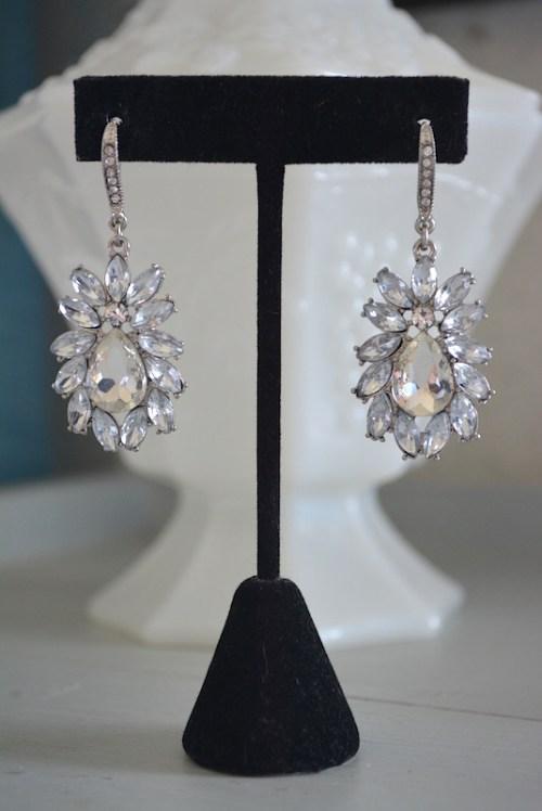 Teardrop Rhinestone Earrings,Rhinestone Earrings,Rhinestone Teardrop Earrings