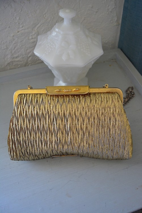 Gold Pleated Purse,Vintage Gold Purse,La Regale,La Regale Gold Purse,La Regale Purse,Vintage Purse,Solid Gold, Gold Lame' Purse