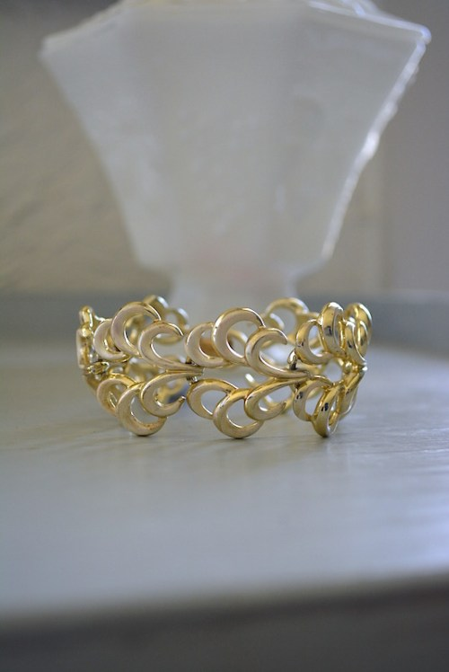 Gold Swirls Bracelet, Coro Bracelet, Coro Jewelry, Vintage Gold Bracelet, Vintage Signed Costume Jewelry, Coro