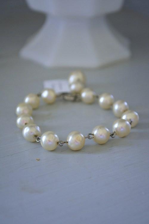 Linked Pearl Bracelet, Vintage Pearl Bracelet, Pearl Bracelet, Vintage Pearls