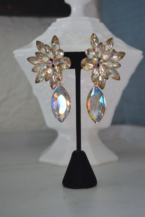 Topaz Statement Earrings, Statement Earrings, Topaz Earrings, Glamorous Earrings
