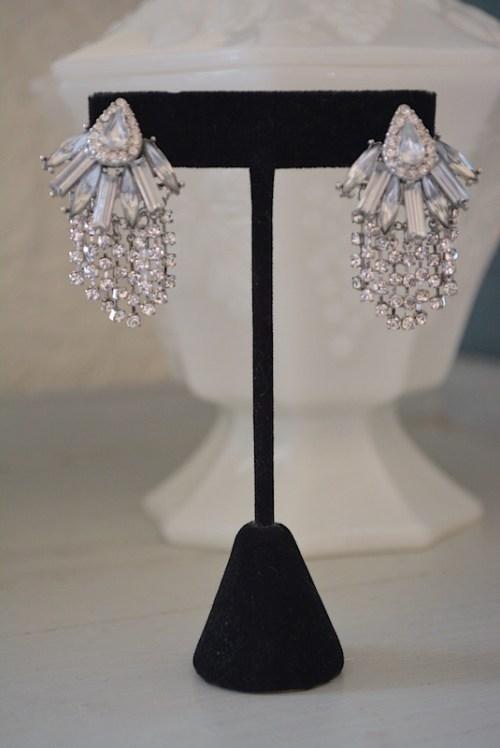 Rhinestone Waterfall Earrings, Rhinestone Earrings, Bridal Jewelry, Bridal Earrings, Rhinestone Earrings, Fringe Earrings