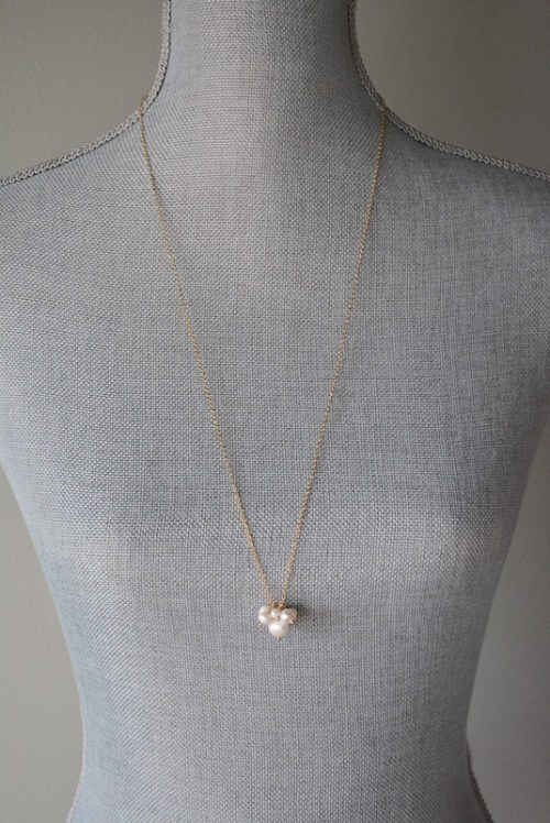 Long Pearls Cluster Necklace