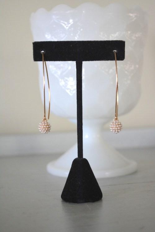 Pearls Teardrop Hoops, Pearl Earrings, Open Pearl Hoops, Pearl Hoop Earrings