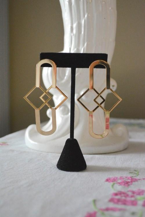 Gold Geometric Earrings, Gold Earrings, Gold Jewelry, Geometric Jewelry
