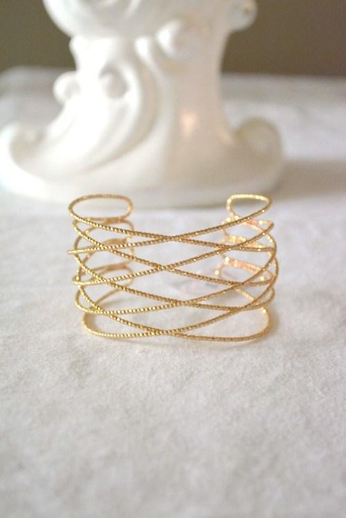Gold Criss Cross Bracelet, Gold Bracelet, Gold Cuff Bracelet