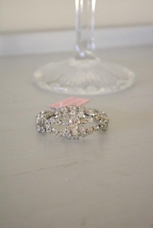 Oval Rhinestone Bracelet, Rhinestone Bracelet, Vintage Rhinestone Bracelet, Bridal Jewelry, Wedding Jewelry